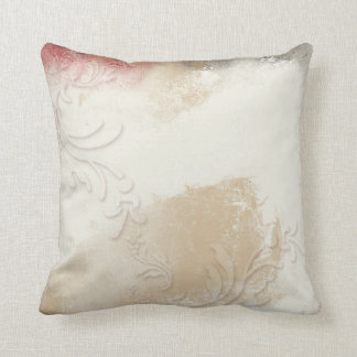 Blend of Soft Cream, Tan and Red | Throw Pillow