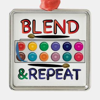Blend & Repeat Metal Ornament