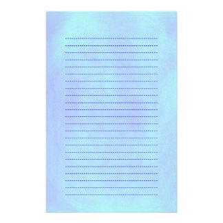 Blended Blue Background Lined Stationery