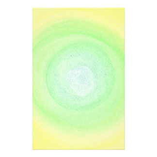 Blended Blue Green Yellow Background Stationery