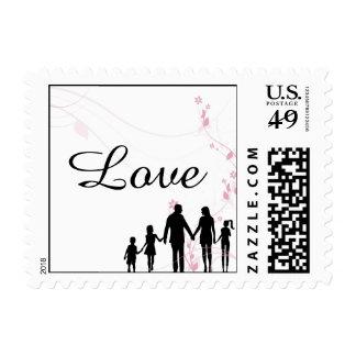 Blended Family Wedding Love Postage Stamp