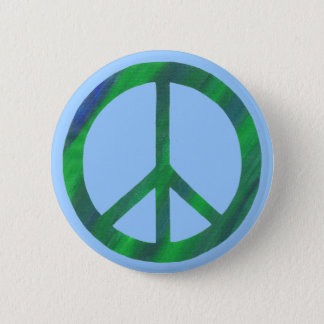 Blended Green Blue Peace Sign buttons