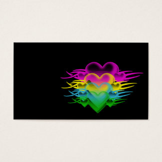 blended hearts business card