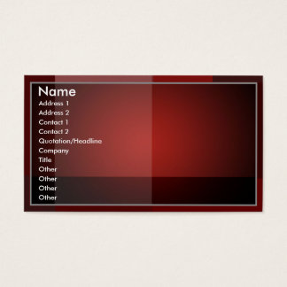 Blended Red- Business Card
