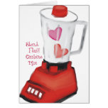 Blender smoothie of love hearts Valentines Day Greeting Cards
