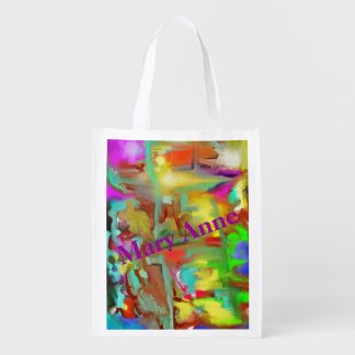 Blending Colors - Cheerful Abstract Design Market Tote