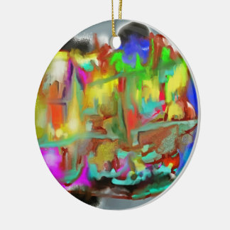 Blending Colors-Dynamic Abstract Design Ceramic Ornament