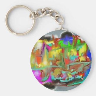 Blending Colors-Dynamic Abstract Design Keychain