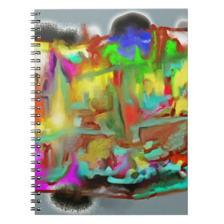 Blending Colors-Dynamic Abstract Design Spiral Notebook