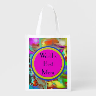 Blending Colors - World's Best Mom - Customizable Reusable Grocery Bag