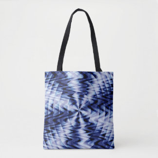 Blending in blue waves... tote bag