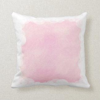 Blends of light Pink, Cloud Border Pillow