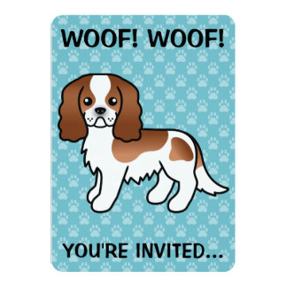 Blenheim Cavalier King Charles Spaniel Dog Card