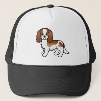 Blenheim Cavalier King Charles Spaniel Dog Trucker Hat