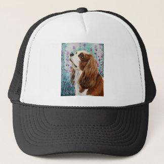 Blenheim Cavalier King Charles Spaniel Trucker Hat