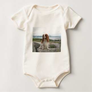 Blenheim Cavalier Mackinaw Bridge Michigan Baby Bodysuit