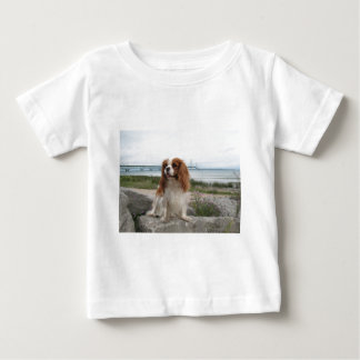 Blenheim Cavalier Mackinaw Bridge Michigan Baby T-Shirt