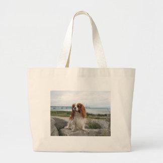 Blenheim Cavalier Mackinaw Bridge Michigan Canvas Bag