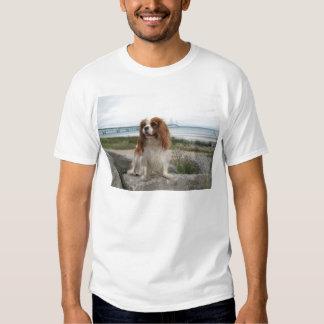 Blenheim Cavalier Mackinaw Bridge Michigan T-Shirt