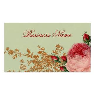 Blenheim Rose - Elegant Sage Green Double-Sided Standard Business Cards (Pack Of 100)
