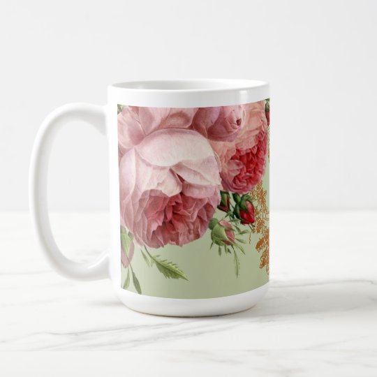 Blenheim Rose - Elegant Sage Green Coffee Mug