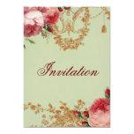 Blenheim Rose- Elegant Sage Green 5x7 Paper Invitation Card