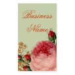 Blenheim Rose - Elegant Sage Green - Swing tag Double-Sided Standard Business Cards (Pack Of 100)
