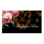 Blenheim Rose, noir, Business Card Template