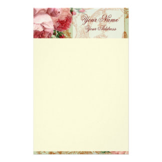 Blenheim Rose - Sage Green - Personalised Personal Customized Stationery