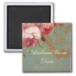 Blenheim Rose Save the Date 2 Inch Square Magnet