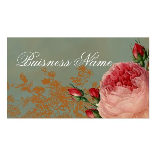 Blenheim Rose Swing Tag Business Card Templates