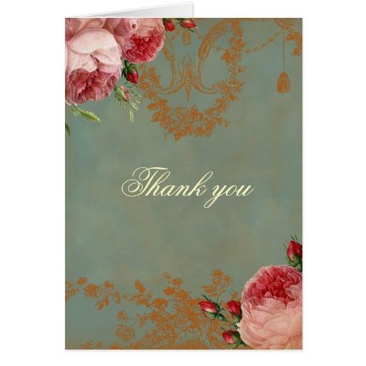 Blenheim Rose Thank you Greeting Card