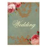 Blenheim Rose Wedding Personalized Invite