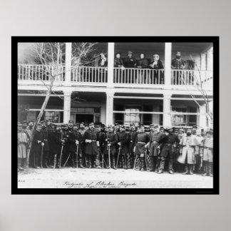 Blenkers Brigade Headquarters 1864 Poster