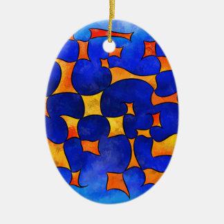 Blesmios V1- melting cubes Ceramic Ornament