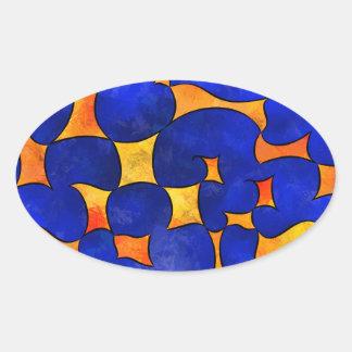 Blesmios V1- melting cubes Oval Sticker