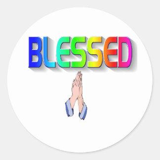 Bless Classic Round Sticker