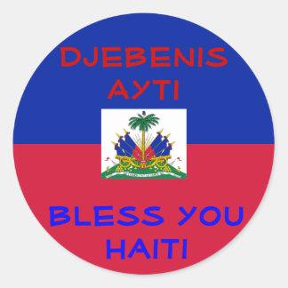 Bless Haiti stickers Round Sticker