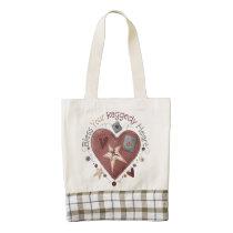 bag, tote, school, education, hippy, girl, women, teacher, cancer, faith, [[missing key: type_heartba]] with custom graphic design