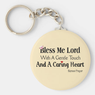Bless Me Lord Nurses Prayer Basic Round Button Keychain