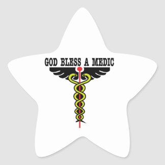 Bless Medic Star Stickers