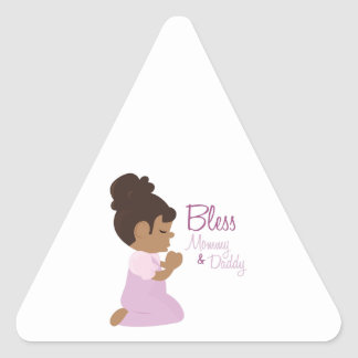 Bless Mommy & Daddy Triangle Sticker