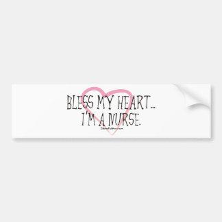 Bless My Heart I'm a Nurse Bumper Sticker