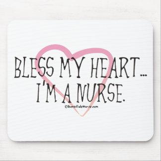 Bless My Heart I'm a Nurse Mouse Pad