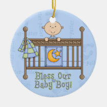 babyshower, baby, ornament, boy, inspiration, expecting, Ornament with custom graphic design