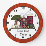 Bless Our Farm wall clock