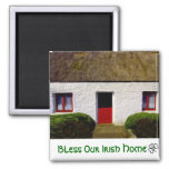 Bless Our Irish Home Thatch Cottage Magnets