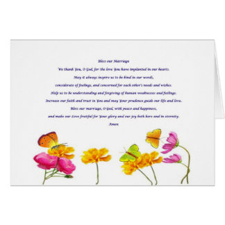 Bless our Marriage prayer Greeting Card