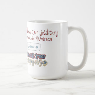 Bless Our Military Gift Classic White Mug