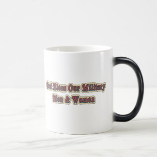 Bless Our Military Soldiers 11 Oz Magic Heat Color-Changing Coffee Mug